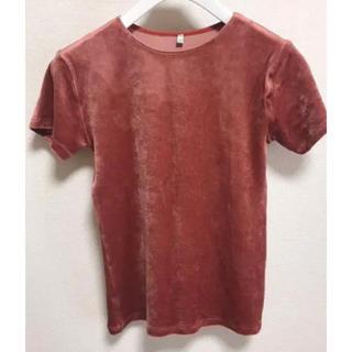 エディットフォールル(EDIT.FOR LULU)のBASERANGEベースレンジ ベロアT(Tシャツ(半袖/袖なし))