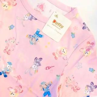 ダッフィー(ダッフィー)の新品 香港ディズニーランド Tシャツ キッズ ガールズ(Tシャツ/カットソー)