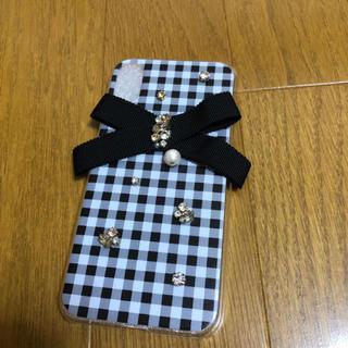 iPhoneXケース♡ギンガムチェックリボン