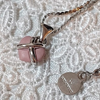 ウェッジウッド(WEDGWOOD)のウェッジウッド  ピンク ハート ネックレス(ネックレス)