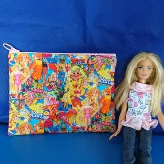 バービー(Barbie)のハンドメイド フラットポーチ(ポーチ)