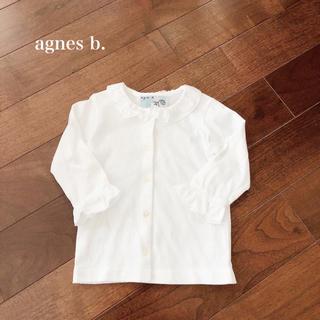 アニエスベー(agnes b.)の【美品】agnes b. シャツ ベビー 80cm〜90cm(ブラウス)