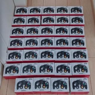 ニンテンドーゲームキューブ(ニンテンドーゲームキューブ)の【任天堂純正品】ゲームキューブ コントローラー スマブラブラック 34個セット(その他)