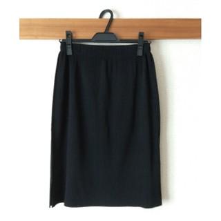 イッセイミヤケ(ISSEY MIYAKE)のme ISSEY MIYAKE A-POC PLEATS BLACK スカート(ひざ丈スカート)