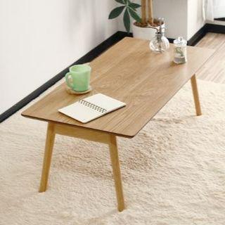 新品 天然素材 ローテーブル 90cm (ローテーブル)