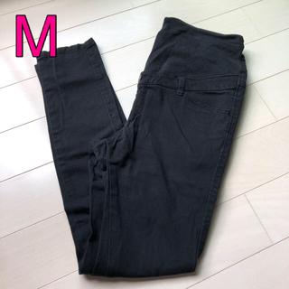 ベルメゾン(ベルメゾン)のマタニティ  パンツ ブラックデニム ズボン 黒 M(マタニティボトムス)
