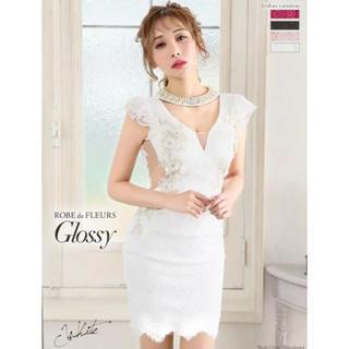 ROBE - ROBE de FLEURS Glossy サイドシースルー  ドレス