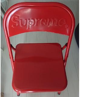 シュプリーム(Supreme)のSupreme Metal Folding Chair  椅子 訳あり特価(折り畳みイス)