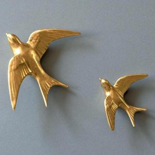 ビーカンパニー(B-COMPANY)のウォールデコ ゴールド 鳥 (大)(その他)