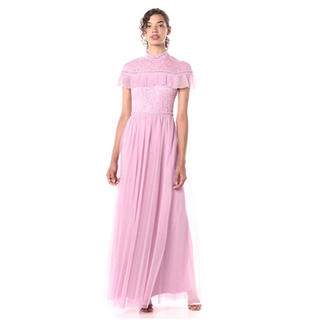 ビーシービージーマックスアズリア(BCBGMAXAZRIA)の❤️BCBG 2020新作 新品 ピンクワンピース ドレス 綺麗(ロングドレス)