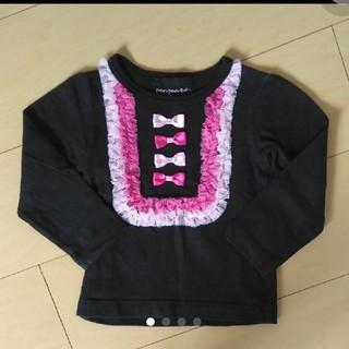 フェフェ(fafa)のパンパンチュチュ ロンT 黒M(Tシャツ/カットソー)