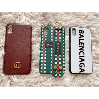 バレンシアガ(Balenciaga)のma.s.k様専用 iPhoneXケースセット ブランド 風(iPhoneケース)