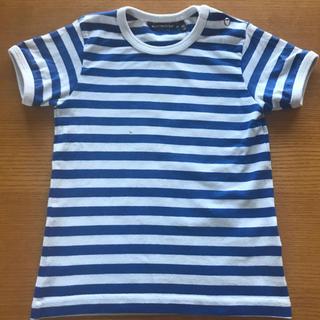 マリメッコ(marimekko)のmarimekko マリメッコ 青ボーダー Tシャツ 80(Tシャツ)
