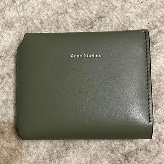 アクネ(ACNE)のアクネストゥディオズ  スモールウォレット ダークグリーン(財布)