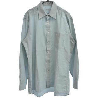 クリスチャンディオール(Christian Dior)のChristian Dior クリスチャンディオール ポケットロゴ刺繍長袖シャツ(シャツ)
