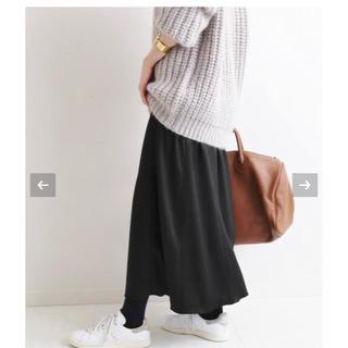 イエナ(IENA)のIENA キリカエフレアーサテンスカート 36(ロングスカート)