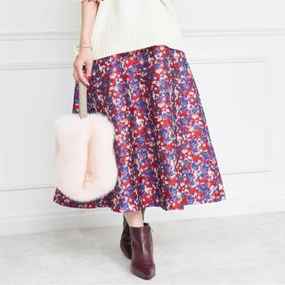 ドゥロワー(Drawer)の♥連休限定価格♥OBLI(オブリ)ジャガードスカート【美品】(ロングスカート)