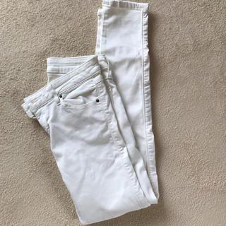 リー(Lee)のLee ホワイト 白 スキニーパンツ デニム 日本製(デニム/ジーンズ)
