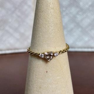 YG ハートダイヤモンドリング(リング(指輪))
