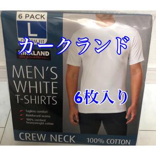 コストコ(コストコ)のKIRKLAND カークランド メンズ 白Tシャツ Lサイズ 6枚入り(Tシャツ/カットソー(半袖/袖なし))