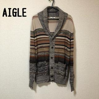 エーグル(AIGLE)のAIGLE エーグル カーディガン 未使用 美品 M  定価14000程(カーディガン)