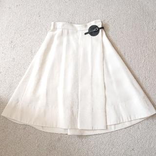 セリーヌ(celine)のCELINE セリーヌ ウエストベルトラップスカート 34(ひざ丈スカート)