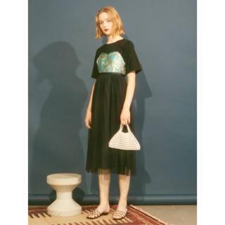 リリーブラウン(Lily Brown)のリリーブラウン Lily Brown チュールキャミレイヤードTシャツ(ロングワンピース/マキシワンピース)