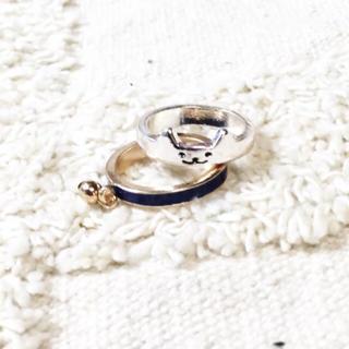 猫リングセット★新品★青(リング(指輪))