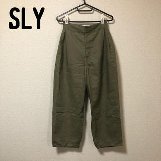 スライ(SLY)のSLY ハイウエストパンツ カーキ M ワイドパンツ  定価14000程(カジュアルパンツ)