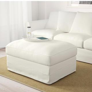 イケア(IKEA)の限定価格!IKEA未使用☆ グローンリード オットマン白(オットマン)