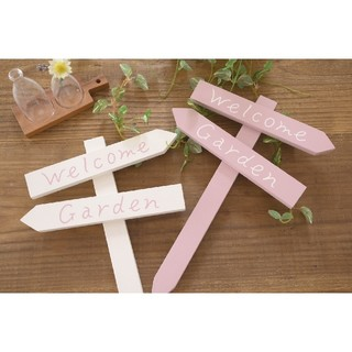 【pink♡様 専用】2点 木製ミニガーデンピック (ピンクorホワイト)(その他)