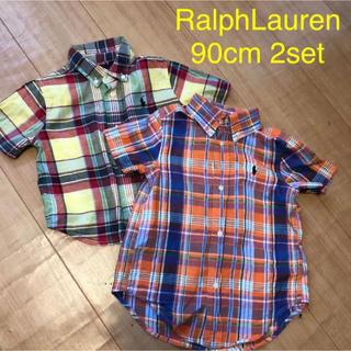 ポロラルフローレン(POLO RALPH LAUREN)の2枚組 ラルフローレン◆チェック半袖シャツ(その他)