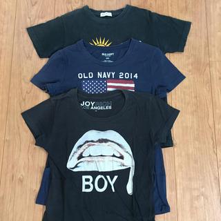 オールドネイビー(Old Navy)のレディース  Tシャツ 3枚セット ブラック ネイビー(Tシャツ(半袖/袖なし))