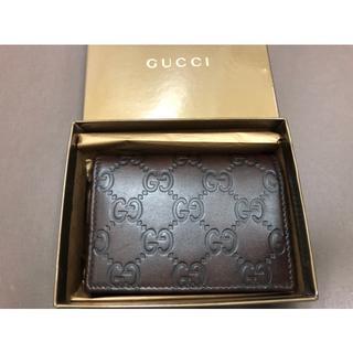 グッチ(Gucci)のGUCCI グッチ グッチシマ レザー 120965(名刺入れ/定期入れ)