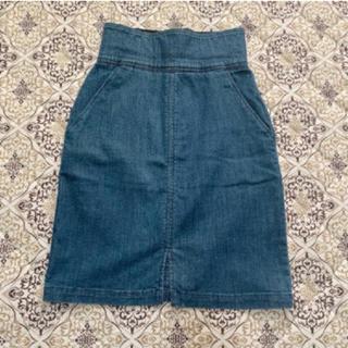 マウジー(moussy)のCECIL McBEEハイウエストデニムスカート(ひざ丈スカート)