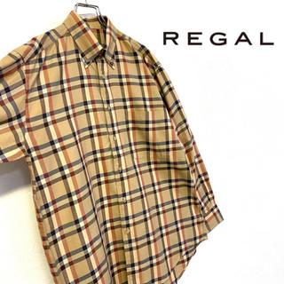 REGAL - 美品 オールドルック REGAL チェック柄 コットンシャツ メンズL