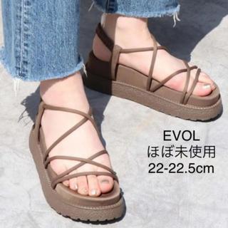 イーボル(EVOL)の【ほぼ未使用】EVOL  コードプラットフォームサンダル 22-22.5cm(サンダル)