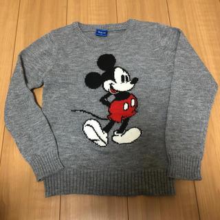 ディズニー(Disney)のディズニー ミッキーマウス ニット 美品 130(ニット)