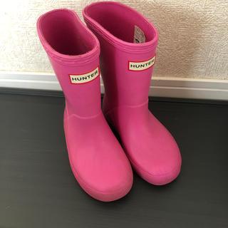 ハンター(HUNTER)のハンター キッズ レインブーツ ピンク(長靴/レインシューズ)