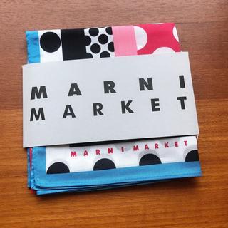 マルニ(Marni)の大人気 売り切れ柄 MARNI マルニ マーケット バンダナ(バンダナ/スカーフ)