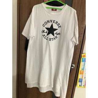 コンバース(CONVERSE)の値下げ コンバース オールスター ワンピース トップス チュニック  ロゴT(ひざ丈ワンピース)