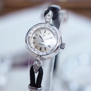 オメガ(OMEGA)のOH済 美品✨オメガ K18 金無垢 ダイヤ時計✨ティファニー ロレックス(腕時計)