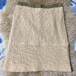 エミスフィール(HEMISPHERE)のHEMISPHERES ラメ入り サマーニット スカート(ひざ丈スカート)