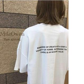 ミラオーウェン(Mila Owen)のMila Owen バックロゴプリントTシャツ(Tシャツ(半袖/袖なし))