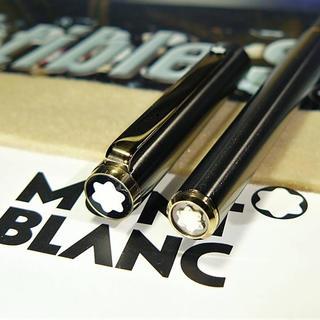 MONTBLANC - 入手困難な総チタン張り!モンブラン★ボールペン生産極少逸品!★当時の付属品保証書