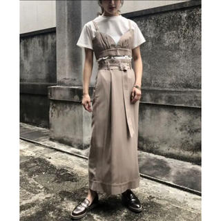 Ameri VINTAGE - &g'aime セットアップ タックタイトロングスカート ビスチェセットTシャツ