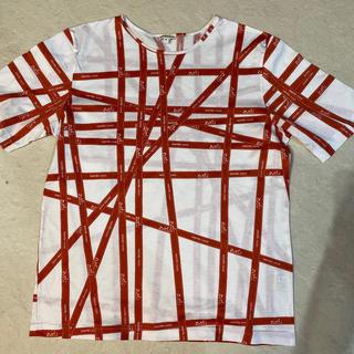 エルメス(Hermes)のエルメス HERMES   Tシャツ リボン柄(Tシャツ(半袖/袖なし))