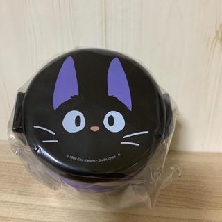 ジブリ(ジブリ)の魔女の宅急便 ジジ ☆丸型 ランチボックス 500ml 弁当箱 フォーク付(弁当用品)