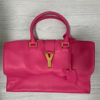 イヴサンローランボーテ(Yves Saint Laurent Beaute)のサンローラン イブサンローラン YSL バッグ ハンドバッグ ピンク(ハンドバッグ)