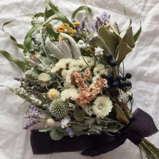 ユーカリと様々なお花たちのパーティー スワッグ 38cm ドライフラワー(ドライフラワー)